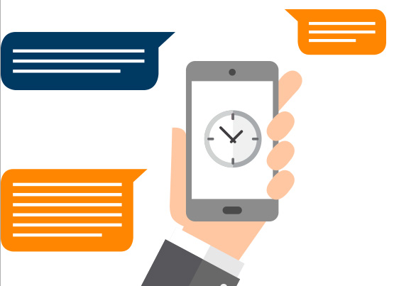 Defina a data e a hora do seu envio SMS