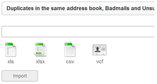Administração de endereços de email